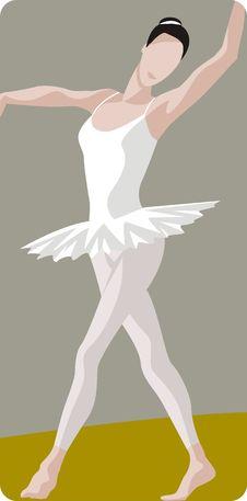 Free Dancing Ballerina Illustration Stock Photo - 1996180