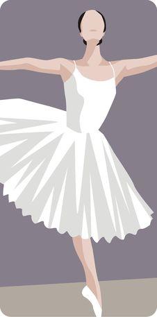 Free Dancing Ballerina Illustration Stock Image - 1996181