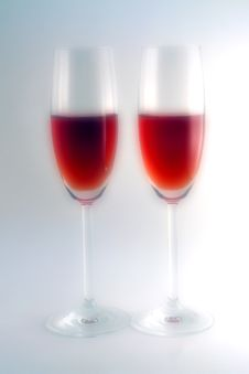 Free Glasses And Red Wine Royalty Free Stock Images - 1996219
