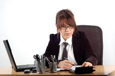 Free Businesswoman At Desk 19 Royalty Free Stock Images - 1996229