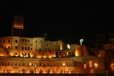 Rome By Night Royalty Free Stock Photography