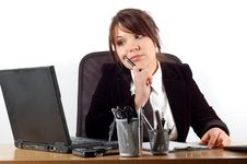 Free Businesswoman At Desk 19 Royalty Free Stock Photos - 1996338