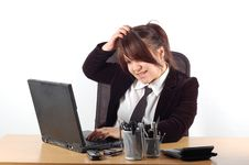 Free Businesswoman At Desk 19 Stock Photo - 1996360