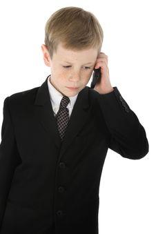 Little Businessman Royalty Free Stock Image