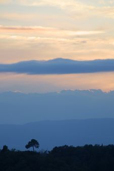 Free Sunrise In Tuscany, Italy Stock Photo - 1996920