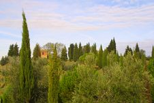 Classic Tuscan Farmhouse Royalty Free Stock Photography