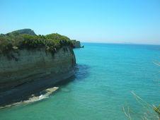 Sandstone Cliffs, Sidari Royalty Free Stock Photos