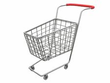 Free Logo Empty Cart Over White Royalty Free Stock Photos - 1997558