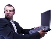 Free Businessman Working On Laptop Royalty Free Stock Images - 1998419