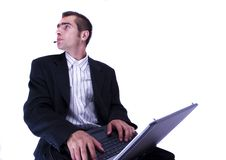 Free Businessman Working On Laptop Stock Photos - 1998433