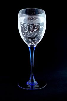 Glass With Mineral Water Royalty Free Stock Photography