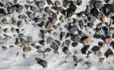 Free Stones In Snow Stock Photography - 1998812