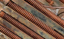 Free Rusting Threaded Bolts Royalty Free Stock Image - 1998836