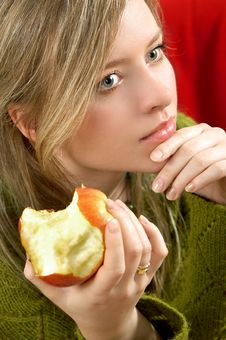Free Girl With Apple Stock Photos - 1999613