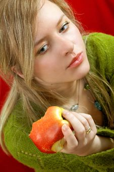 Free Girl With Apple Royalty Free Stock Photo - 1999665