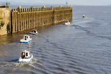 Flotilla Of Fishing Boats Royalty Free Stock Photos