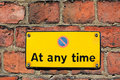 Free No Parking At Any Time Stock Photography - 19904072