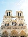 Free The Facade Of Notre Dame In Paris , France Stock Photos - 19907673