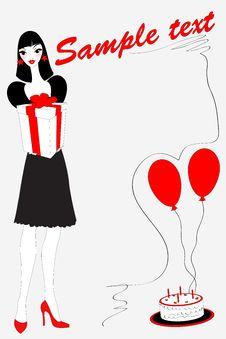 Free Birthday Gteeeting Card Stock Images - 19900444