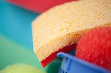 Free Sponges Close Up Royalty Free Stock Photo - 19900795