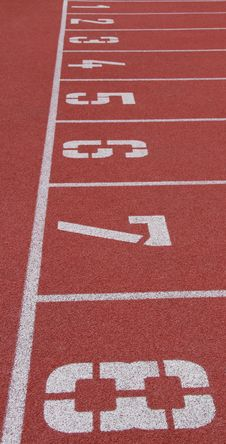 Free Starting Line Of Running Track Stock Photography - 19900982