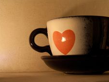 Free Teacup With A Heart. Royalty Free Stock Photography - 19901297