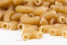 Dry Macaroni Pasta Stock Photo