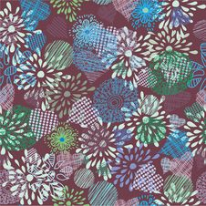 Free Seamless Floral Pattern . Background Royalty Free Stock Photography - 19903177
