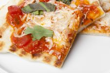 Slices Of Homemade Margarita Pizza Stock Images