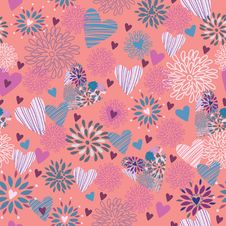 Free Seamless Floral Pattern . Background Stock Photos - 19903293