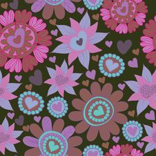 Free Seamless Floral Pattern . Background Royalty Free Stock Photography - 19903307