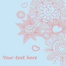 Free Seamless Floral Pattern . Background Royalty Free Stock Images - 19903319