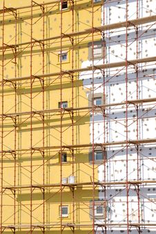 Free Scaffold On The Building Royalty Free Stock Image - 19903576