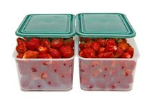 Free The Ripe Strawberries In Two Boxes With Lids_1 Royalty Free Stock Photos - 19903628