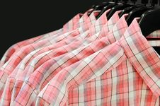Clothes Hanger With Shirts Isolated Stock Photo