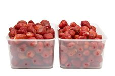 Free The Ripe Strawberries In Two Boxes_1 Royalty Free Stock Photography - 19903637