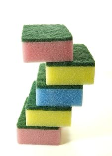 Free Colorful Sponges Royalty Free Stock Photography - 19903847