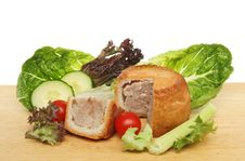 Free Pork Pie And Salad Royalty Free Stock Photos - 19903918