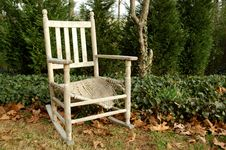 Old Rocking Chair Stock Photo