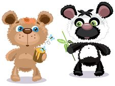 Free Two Bears Royalty Free Stock Images - 19904059