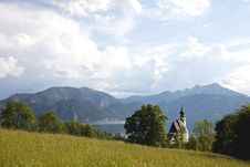 Landscape Panorama With Church Stock Photos