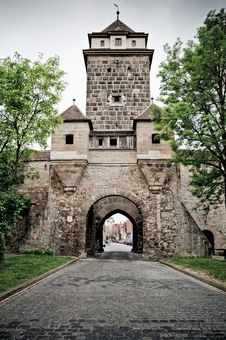 Free Medieval Tower In Rothenburg Royalty Free Stock Photography - 19904897