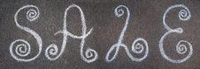 Free The Inscription Sale Drawn On Asphalt Stock Photography - 19904982
