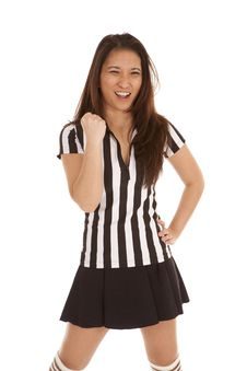 Free Referee Woman Punch Stock Photo - 19906540