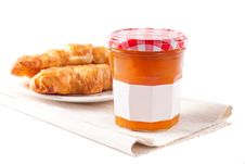 Free Marmalade And Croissants Stock Photography - 19906712