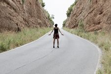 Free Woman On The Road Stock Photography - 19907342