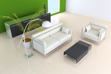 Free 3D Indoor Sitting Room Rendering Royalty Free Stock Photos - 19908448