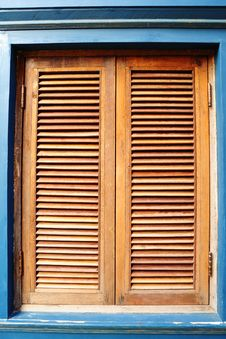 Free Old Wooden Window Stock Image - 19908691