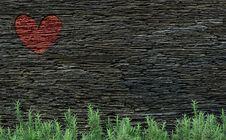 Black Rock Layered Wall Stock Photos