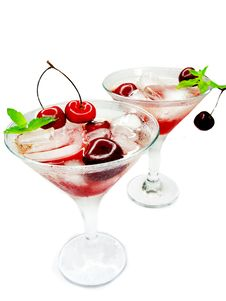 Free Alcohol Liqueur Cocktail With Cherry Stock Image - 19908891